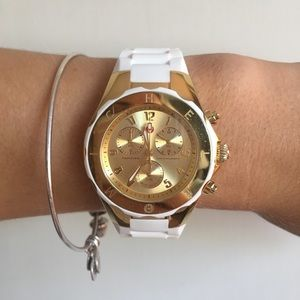 Michele 'Tahitian Jelly Bean' Two Tone Watch